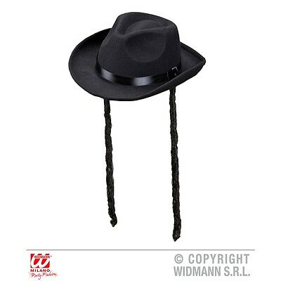 Adult's Real Look Rabbi Hat - With Payes Mens Jewish Fancy Dress Costume Outfit
