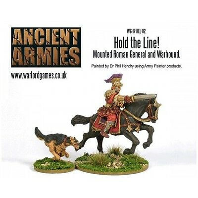 Mounted Roman General & Dog Miniatures - Warlord Games Hail Caesar Hold The
