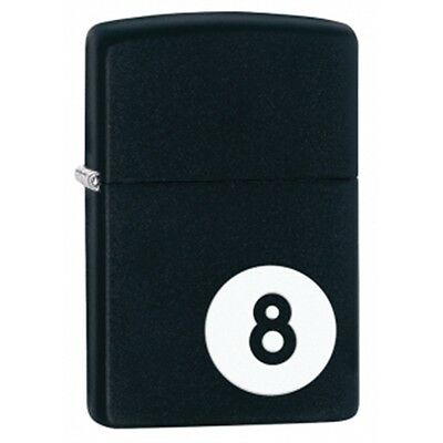 Matte Black 8-ball Zippo Lighter - Small Pocket Present Gift Smokers Accessory