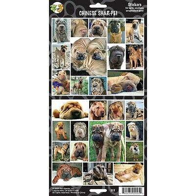 Sheet Of 27 Chinese Shar-pei Stickers - Stickersx Dog Lovers Gift Personalise
