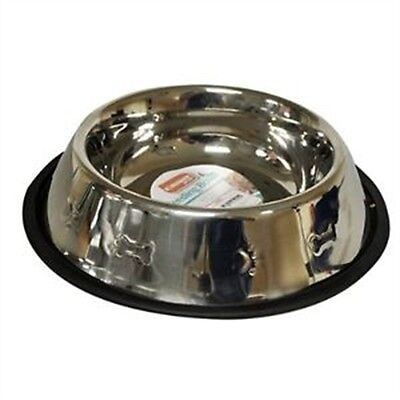 15cm Stainless Steel Non Slip Cat Bowl - Food Water Dish Feeding Dog Skid