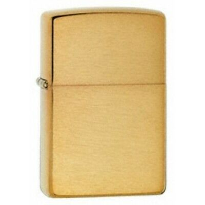 Brushed Brass Armor Zippo Lighter - Small Pocket Gift Present Smokers Accessory