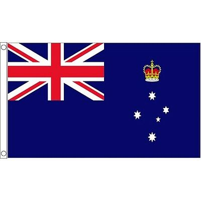 5ft x 3ft Victoria Flag With 2 Eyelets - Australian 5ft Metal