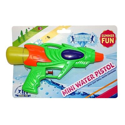 Mini Water Pistol With Quick Refill Container - Pocket Gun Shooter Toy Party