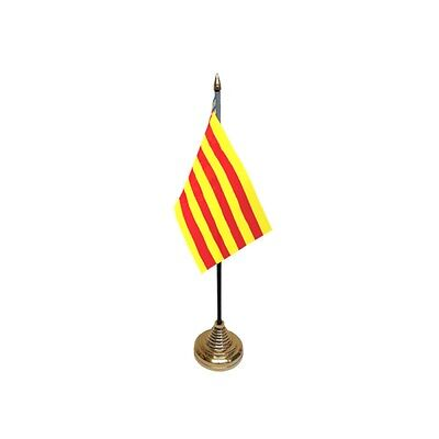 Pack Of 12 Valencia Table Flags - Flag Spain Spanish Region County Province