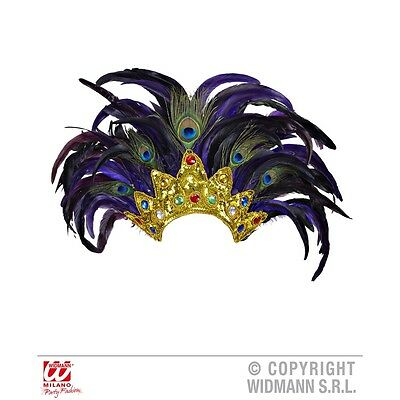 Bahia Show Feathered Headdress - Feather Indian Carnival Festival Fancy Dress