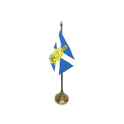 Royal Marines Reserve Scotland Table Flag - Army Military Navy Regiment Infantry