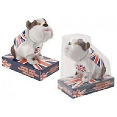 Nodding Head Bulldog With England Flag Printed Base - St George Car Accessory