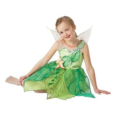 5-6 Years Girls Disney Tinkerbell Costume - Fairy Fancy Dress Medium