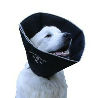 "5.5"" x 14cm Small Black Comfy Dog Cone - 5.5in Surgery Recovery Collar James &"