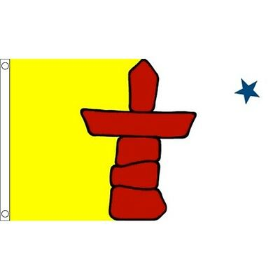 5ft x 3ft Nunavut Flag With 2 Eyelets - Canada Canadian 5ft 150cm 90cm Metal