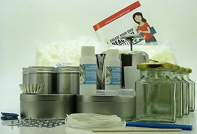 Soya wax candle making kit. Jug, thermometer,  Makes 20 tin/glass candles.