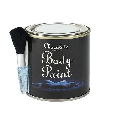 Chocolate Body Paint - With Free Brush Sex Aid Romantic Gift Edible Adult Fun