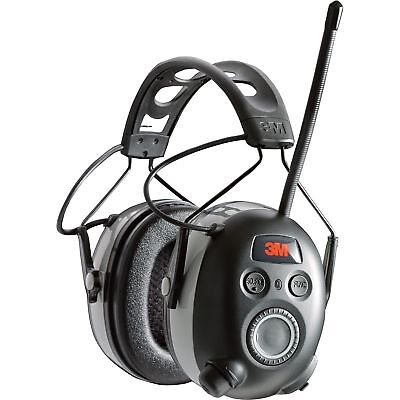 3M WorkTunes AM/FM Radio/MP3 and Hearing Protector with Bluetooth- 25dB