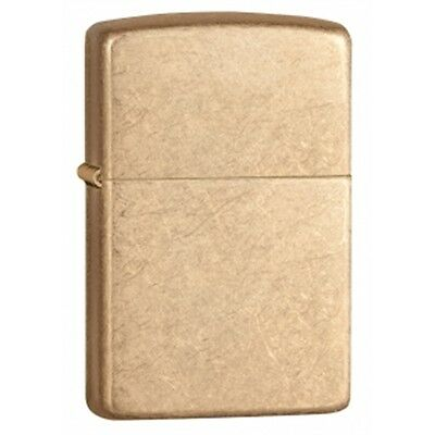 Tumbled Brass Armor Zippo Lighter - Small Pocket Gift Present Smokers Accessory