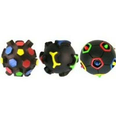 12cm 3d Squeaky Puzzle Ball Dog Toy - Life Squeeky Rubber Playing Chasing