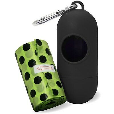 2 Rolls Poop Bag Dispenser - With James & Steel Dog Walking Accessory Cleaning