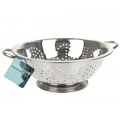 18cm Ethos Stainless Steel Deep Colander - With Hang Tag Kitchenware Cooking