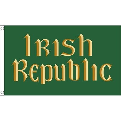 5 x 3' Irish Republic Flag - Easter Rising ( ) Ireland 5ft 3ft With Metal