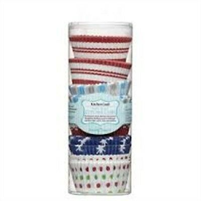 7cm Pack Of 250 Sweetly Does It Winter Patterned Paper Cake Cases - 250x Cup