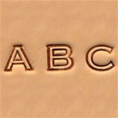 "Open Face Alphabet Leather Stamp Set - 1 4"" (0.6 Cm) Emboss Tool Tandy 4909-00"