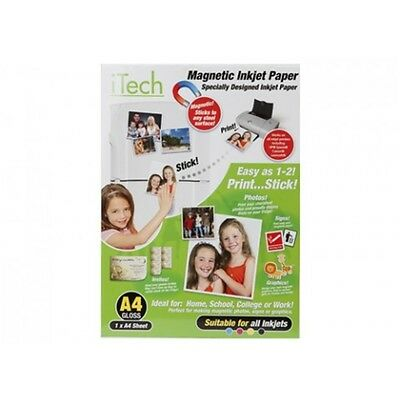 A4 Sheet Of Gloss Magnetic Photo Paper - Make Photos Printing Stationary