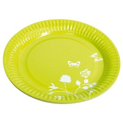 Green Pack Of 8 Concept Paper Plates