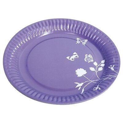 Amscan International 23cm Paper Plates, Pack Of 8, Purple - 8 23 Plates Party