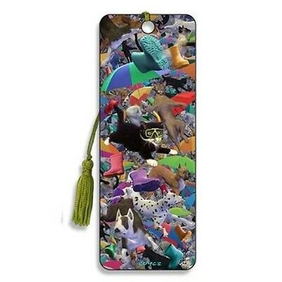 3d Bookmark - Raining Cats And Dogs - Cheatwell Games - Animals Pets Effect