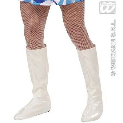 Adult's White Boot Top Covers - 60s 70s Gogo Hippy Fancy Dress