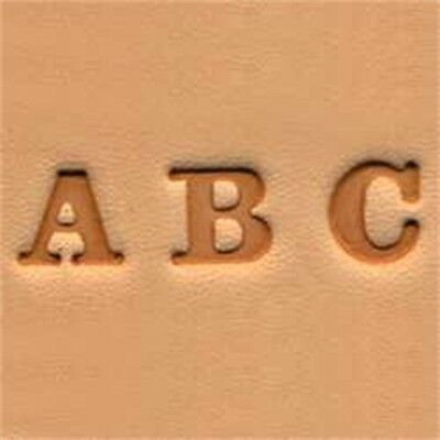 """Alphabet Leather Stamp Set - Easy-to-do 0.6cm (1 4"""") Emboss Tool Tandy 4903-01"""