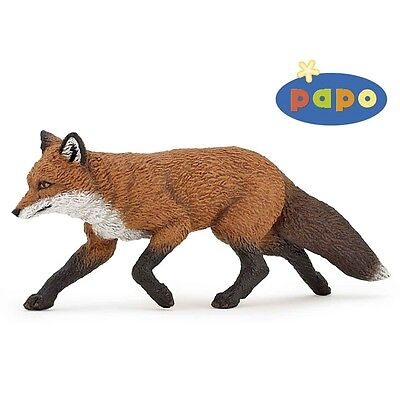 Papo Fox Toy Animal Figurine - Wild Forest Detailed Plastic Figure Pretend Play