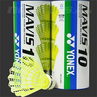 Yellow Yonex Mavis 10 Shuttles 6 Pack - 6x Marvis Medium Badminton Shuttlecocks