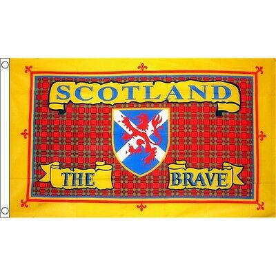 5 x 3' Scotland The Brave Flag - Scottish 5ft 3ft With Metal Eyelets