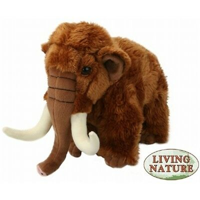 Woolly Mammoth Soft Toy Animal - 23cm Living Nature Novelty Cuddly Stocking