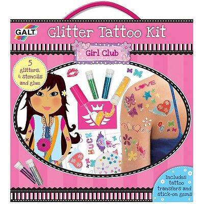 Galt Glitter Temporary Tattoo Kit - Toys Kids Creative Body Art Activity