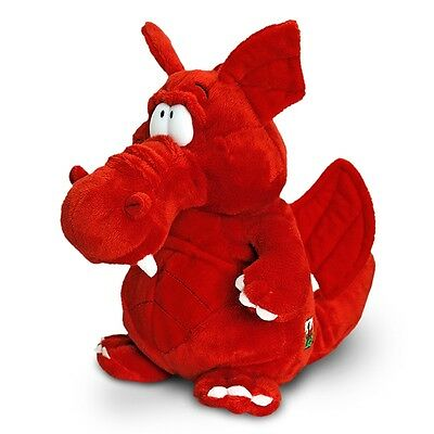 25cm Welsh Dragon Soft Toy - Keel Toys Sitting Red Wales Mascot Plush Cuddly