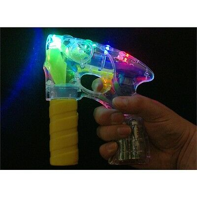 Bubble Gun With Light & Sound - Up LED Musical 2 Refillable Solutions Requires