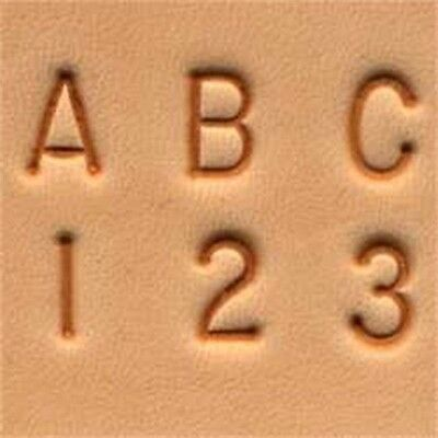 "1/4"" Alphabet & Number Leather Stamping Set - Craftool & 1 4"" (6 Mm) Stamp"