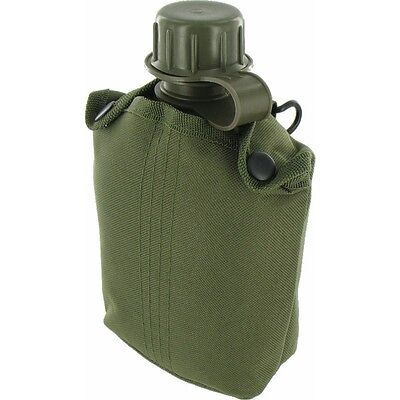 Olive Plastic Water Bottle - Highlander Army Green Cup Camping Hiking Canteen