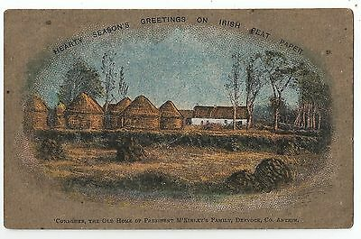 northern ireland postcard made from peat turf ulster irish antrim