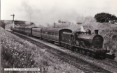 northern ireland postcard ulster irish railway train near portadown