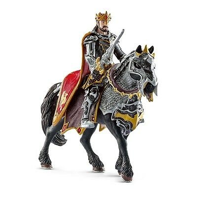 Schleich Dragon Knight King On Horse Model - The World Of Knights Warrior