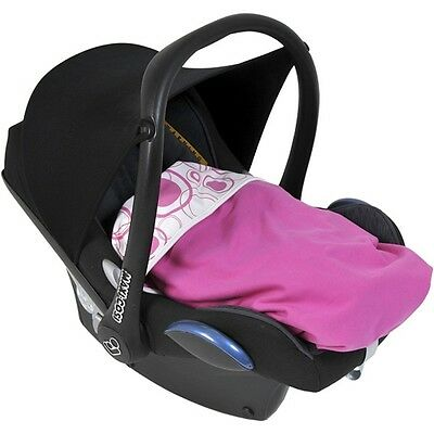 Dooky Dooky Blanket Pink Circles - Baby Cotton Pram Car Seat Carrycot Infant