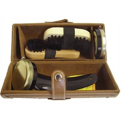 Brown Barrel Shoe Cleaning Kit - Woly Care Brushes Polishes Horn Accessories