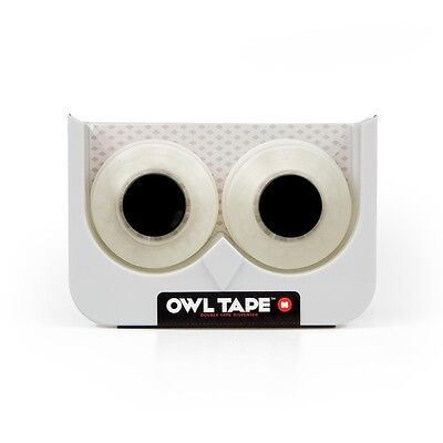 White Owl Novelty Twin Tape Dispenser - Mustard Shaped Includes 2 Rolls 19mmx