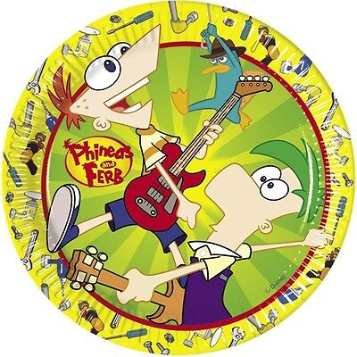 Amscan 23cm Phineas And Ferb 10-paper Plates