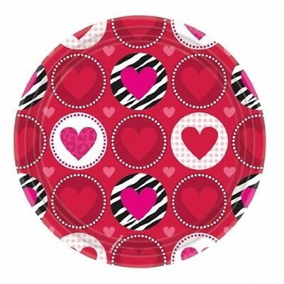 Amscan International 9-inch Peace And Love Paper Plates
