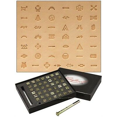 Native American Leather Stamping Set - Craftool Symbol Stamp Fabric Stamp Tool
