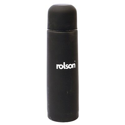 500ml Stainless Steel Flask With Soft Finish - Rolson 42916 Travel Picnics